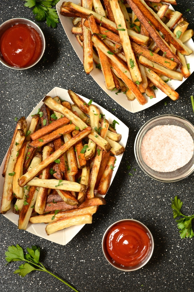 Crispy Baked Seasoned Fries - Where You Get Your Protein