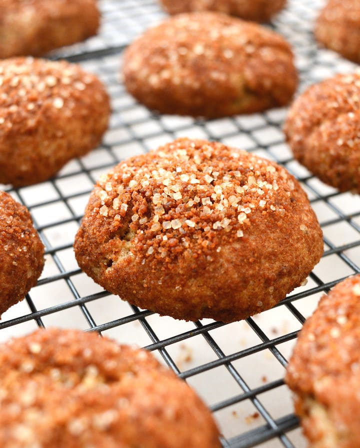 Easy Vegan Crumb Donut Cookies Are Covered In A Cinnamon And Sugar Coating!  The Inside