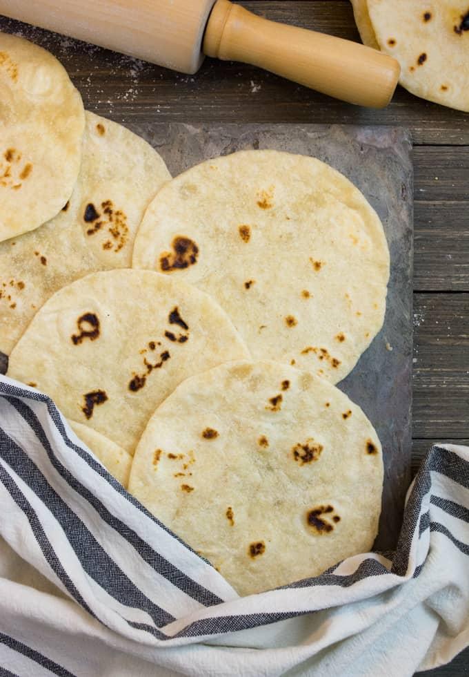 soft homemade flour tortillas