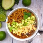 Holy Goodness! This is the best vegan tortilla soup ever! Who could resist avocado and jalapeño cashew-queso in their vegan tortilla soup!?