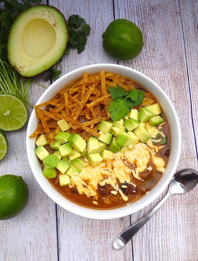 Vegan Tortilla Soup (Instant Pot or stovetop) | Where You Get Your Protein - Vegan Recipes