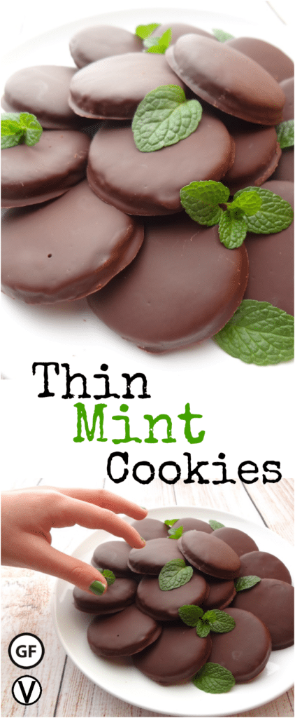 "These Vegan Thin Mints are so good you can't eat just one. They're reminiscent of the classic ""Girl Scout"" cookie. Vegan, gluten-free and require only 10 ingredients. Enjoy a healthier option all year long."