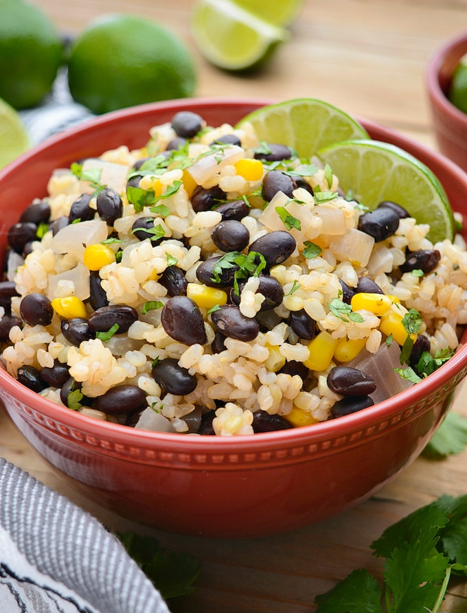 30 Minute Black Beans and Lime Rice | Where You Get Your Protein - Vegan Recipes