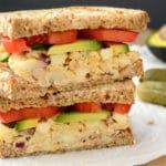 Apple-Walnut Chickpea Salad Sandwich (GF)