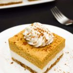 Vegan Pumpkin Cheesecake Bars [no-bake]