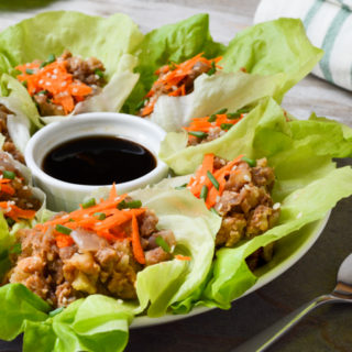 These Asian-inspired vegan lettuce wraps are an easy, packable light snack. Serve these gluten-free wraps with a side of rice for a quick & simple lunch.