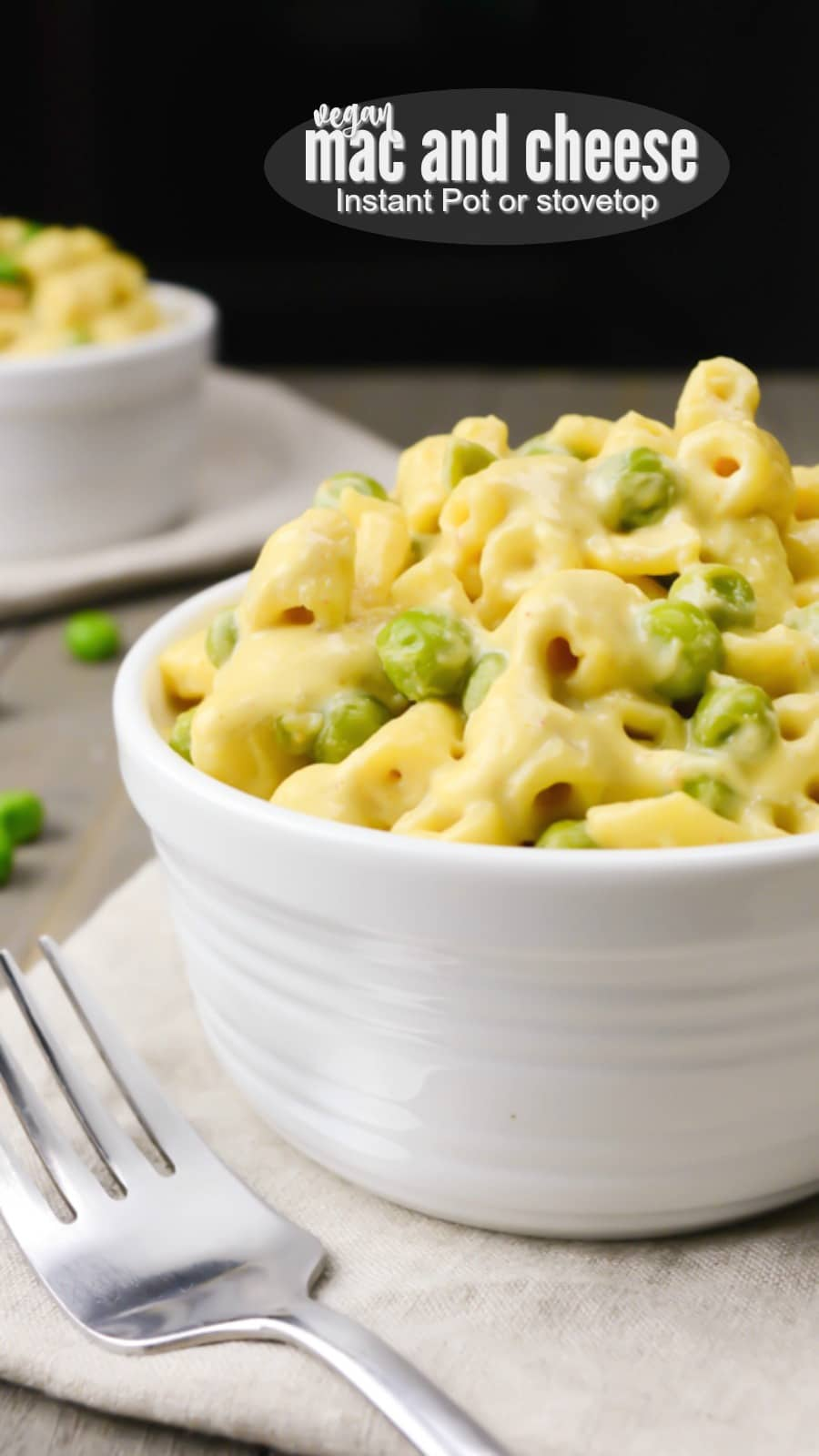 A Vegan Mac and Cheese so creamy and cheesy it's the perfect dairy free alternative! This classic comfort food can be made stovetop or in the Instant-Pot. #vegan #dairyfree #plantbased #meatlessmonday #veganrecipes #instantpotrecipes