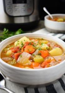 Instant Pot Vegetable Soup – Vegan