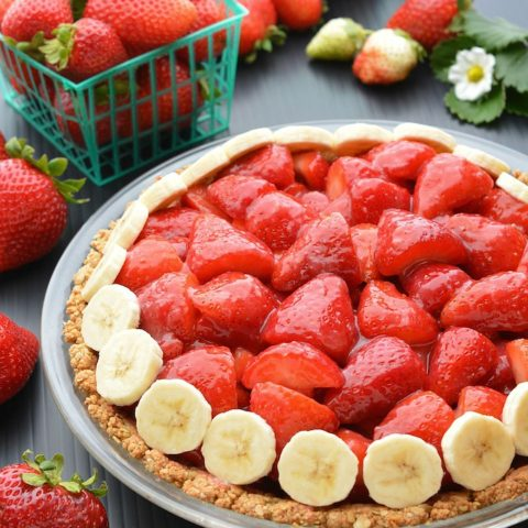 Vegan Strawberry Pie (gluten-free)