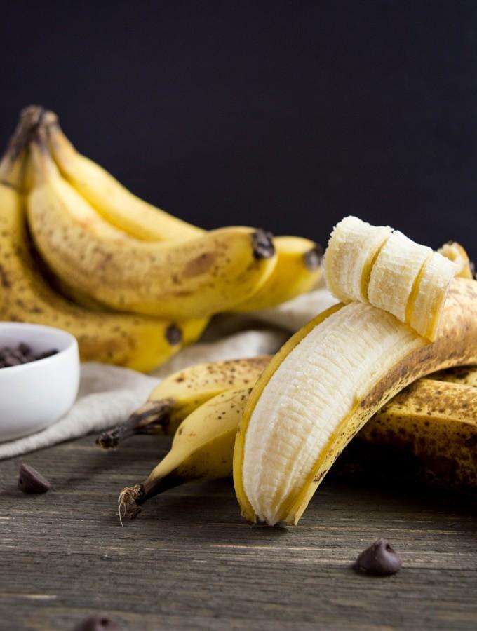 Ripe bananas for Vegan Chocolate Banana Bread