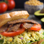 Avocado Chickpea BLT Sandwich (vegan)