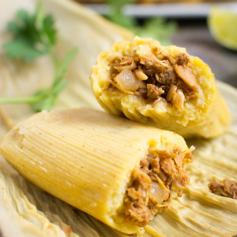 Jackfruit vegan tamale