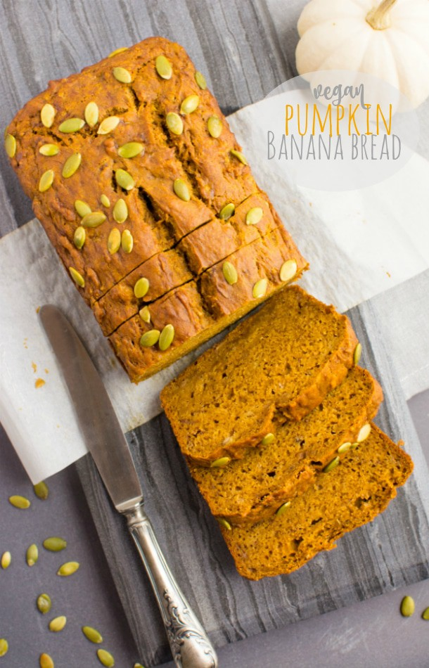 Vegan Pumpkin Banana Bread pin