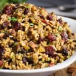 Wild Rice Stuffing • gluten-free and vegan