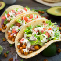 Chickpea Soft Tacos – vegan