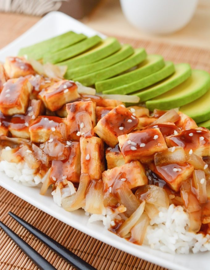 Teriyaki Tofu (baked or pan-fry)