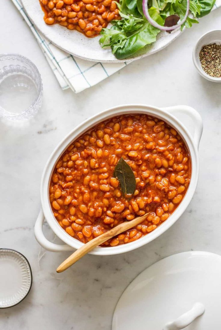 HEALTHY BAKED BEANS - INSTANT POT + SLOW COOKER