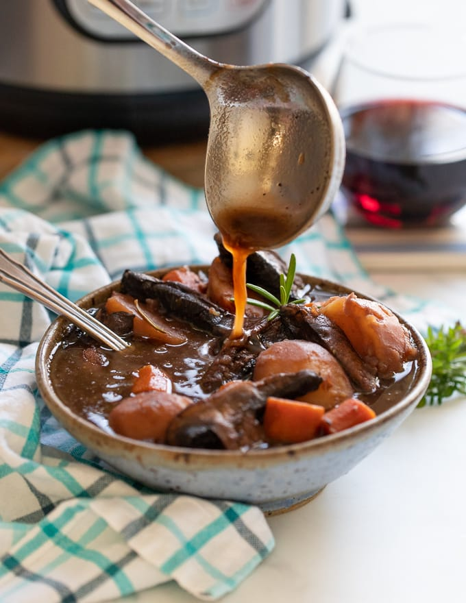 Vegan Instant Pot Portobello Pot Roast