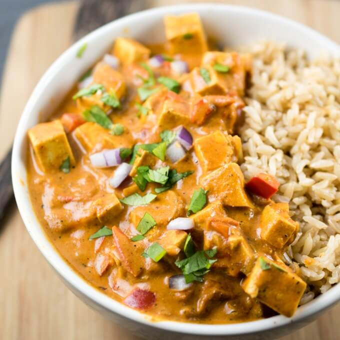 Tofu Tikka Masala Recipe | Dairy-free, Vegan | Slow Cooker Option