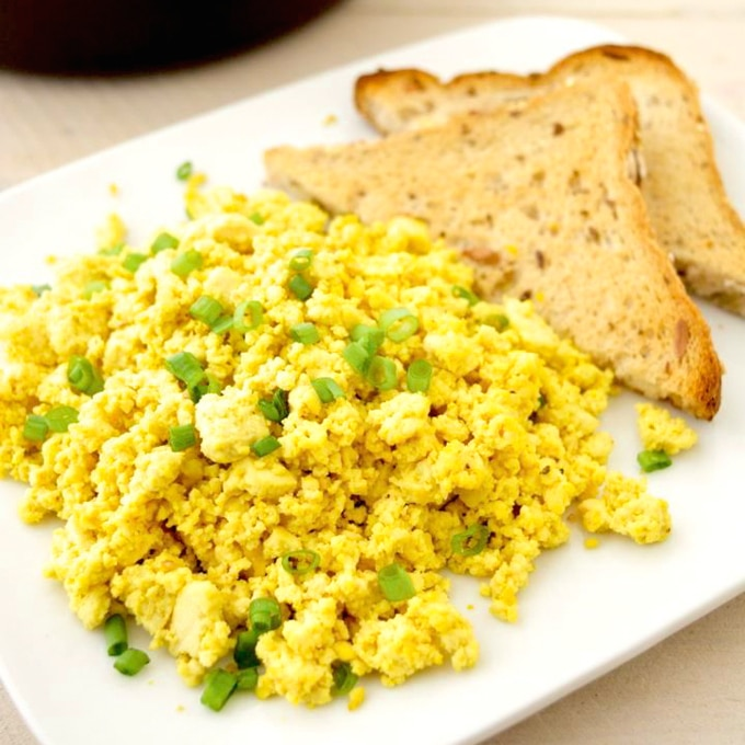Simple Vegan Tofu Scramble - Where You Get Your Protein!