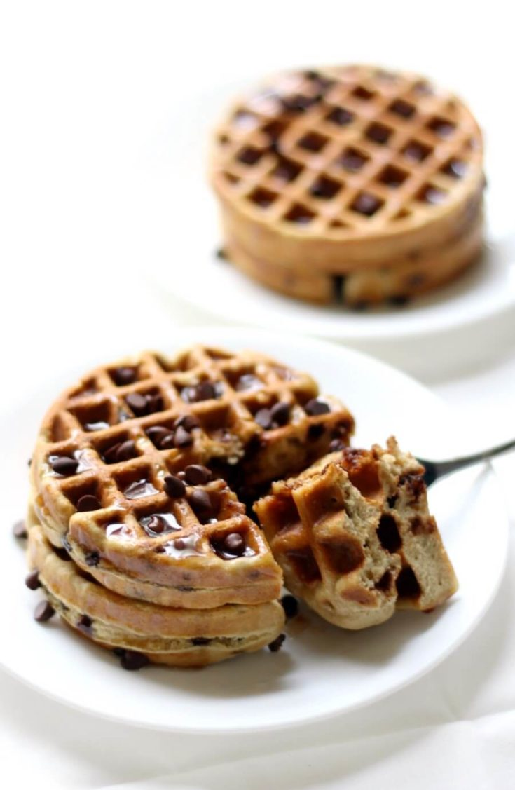 Easy Gluten-Free Chocolate Chip Waffles (Vegan, Allergy-Free)