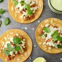 20 minute Vegan Tacos with Cilantro Lime Sauce
