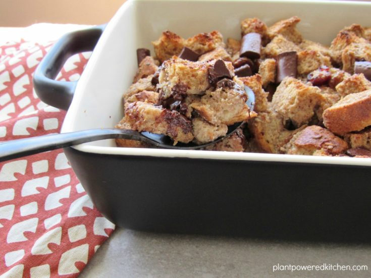 Chocolate Jewelled Bread Pudding