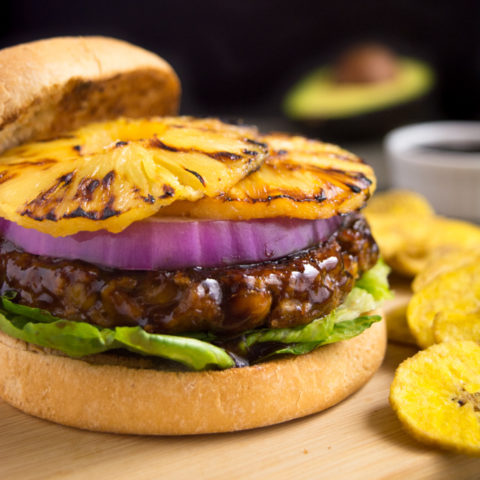 Grilled Huli-Huli Vegan Burger