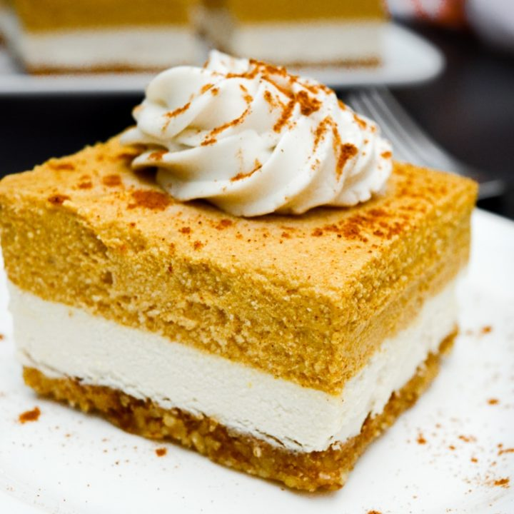 Vegan Pumpkin Cheesecake Bars No Bake Where You Get Your Protein