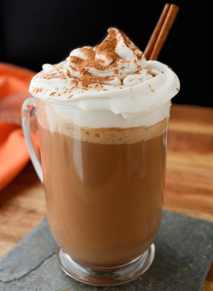 he flavor of classic hot chocolate just got kicked up a notch with the addition of pumpkin puree and pumpkin spice. Top this decadent drink with coconut whip and ground cinnamon for the ultimate warming Fall beverage!
