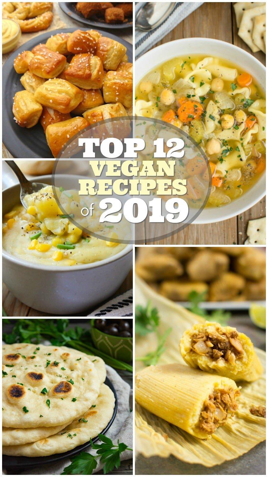 Top 12 vegan recipes of 2019 collage