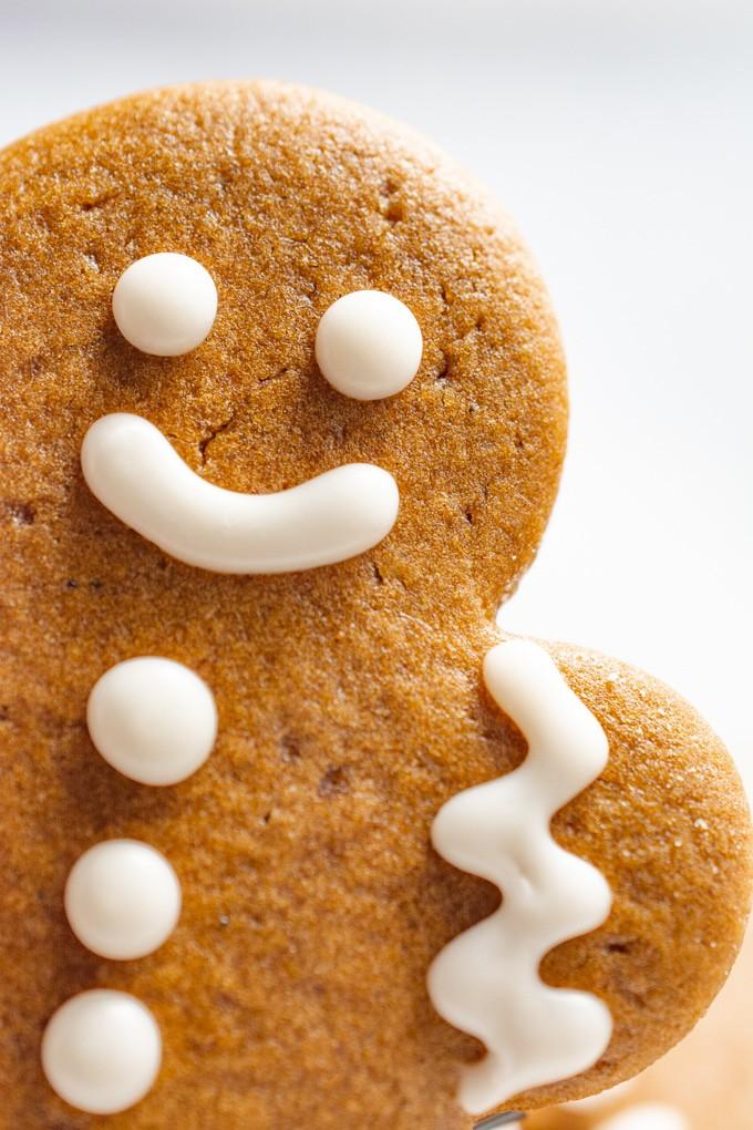 Vegan gingerbread man.