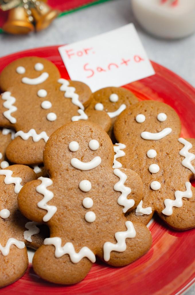 vegan cookies on a plate for Santa.