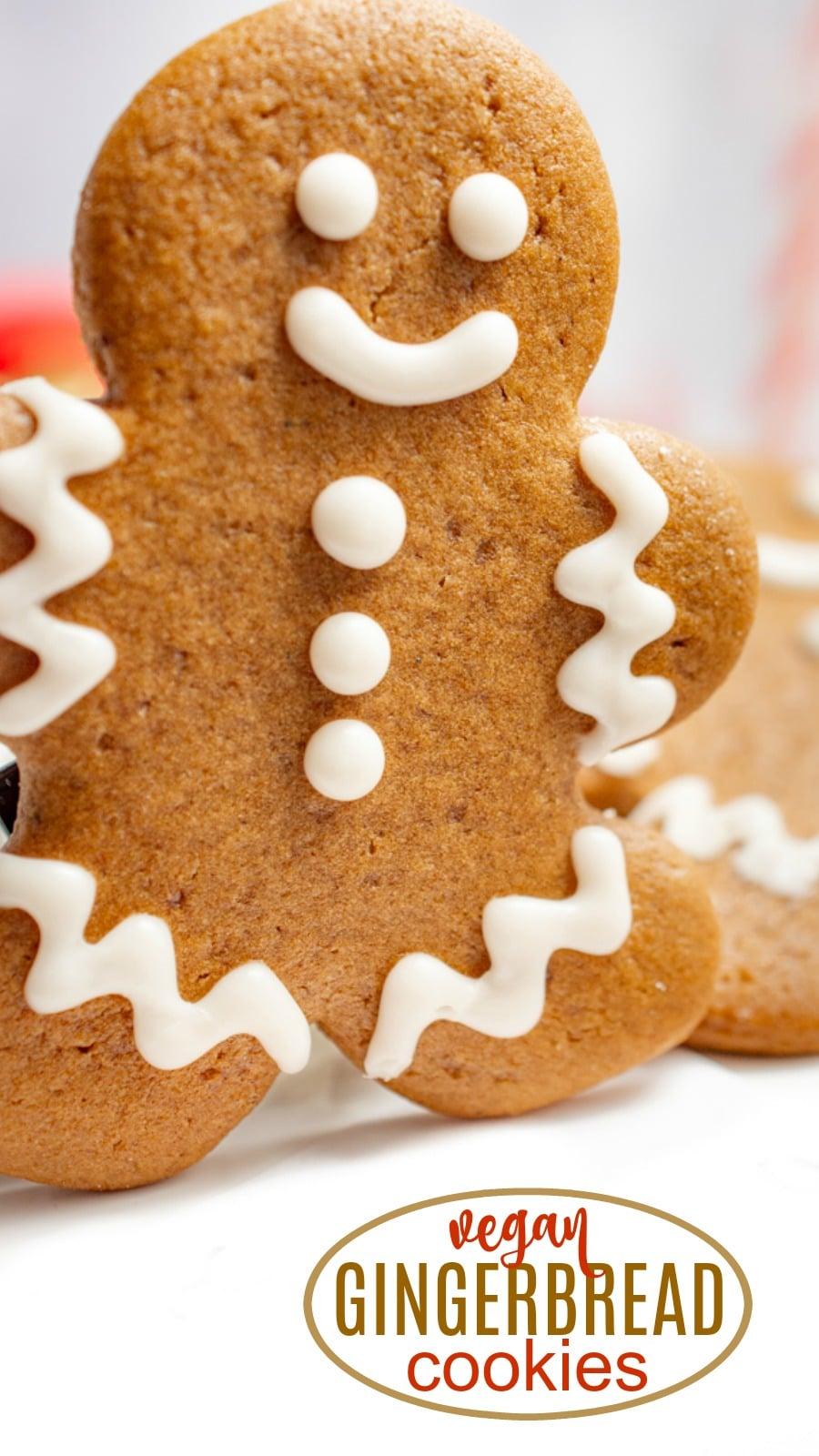 Vegan gingerbread cookie pin.