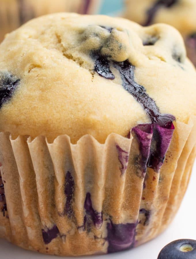 Vegan blueberry muffin