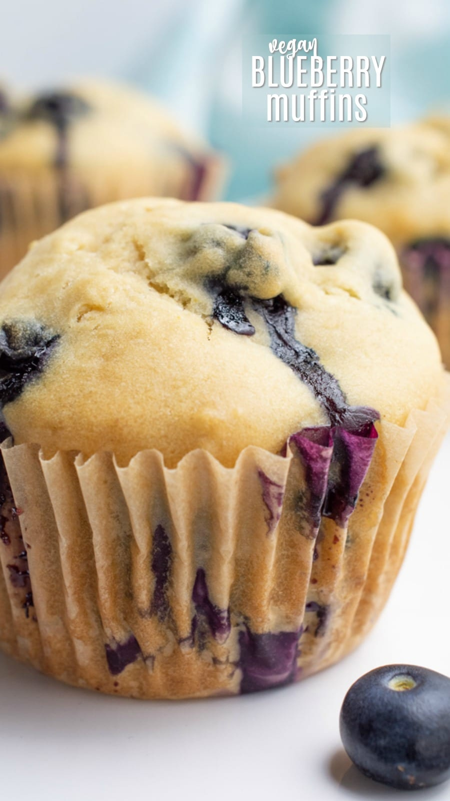 3 Blueberry muffins.