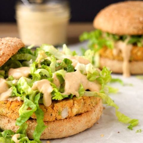 Vegan Spicy Chickpea Burgers