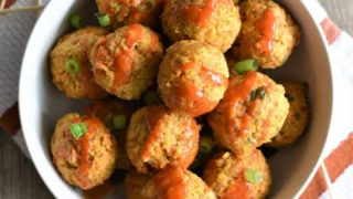 Buffalo Chickpea Meatballs