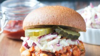 Sloppy Pineapple Chickpea BBQ Sandwich