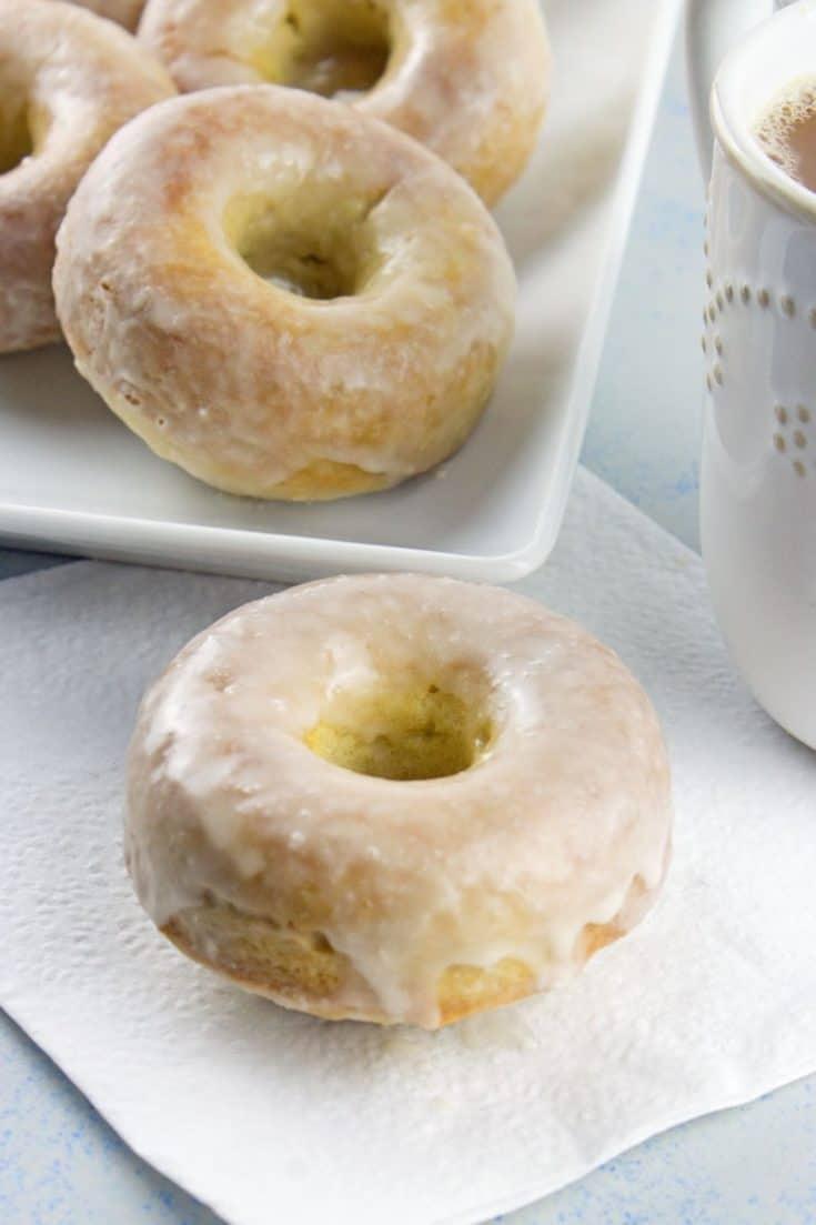 Baked Vegan Glazed Donuts