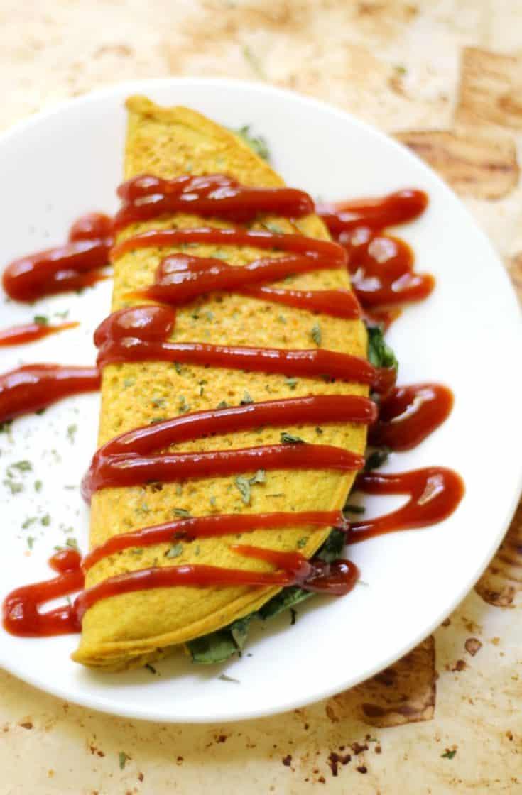 (GF) Chickpea Flour Omelette