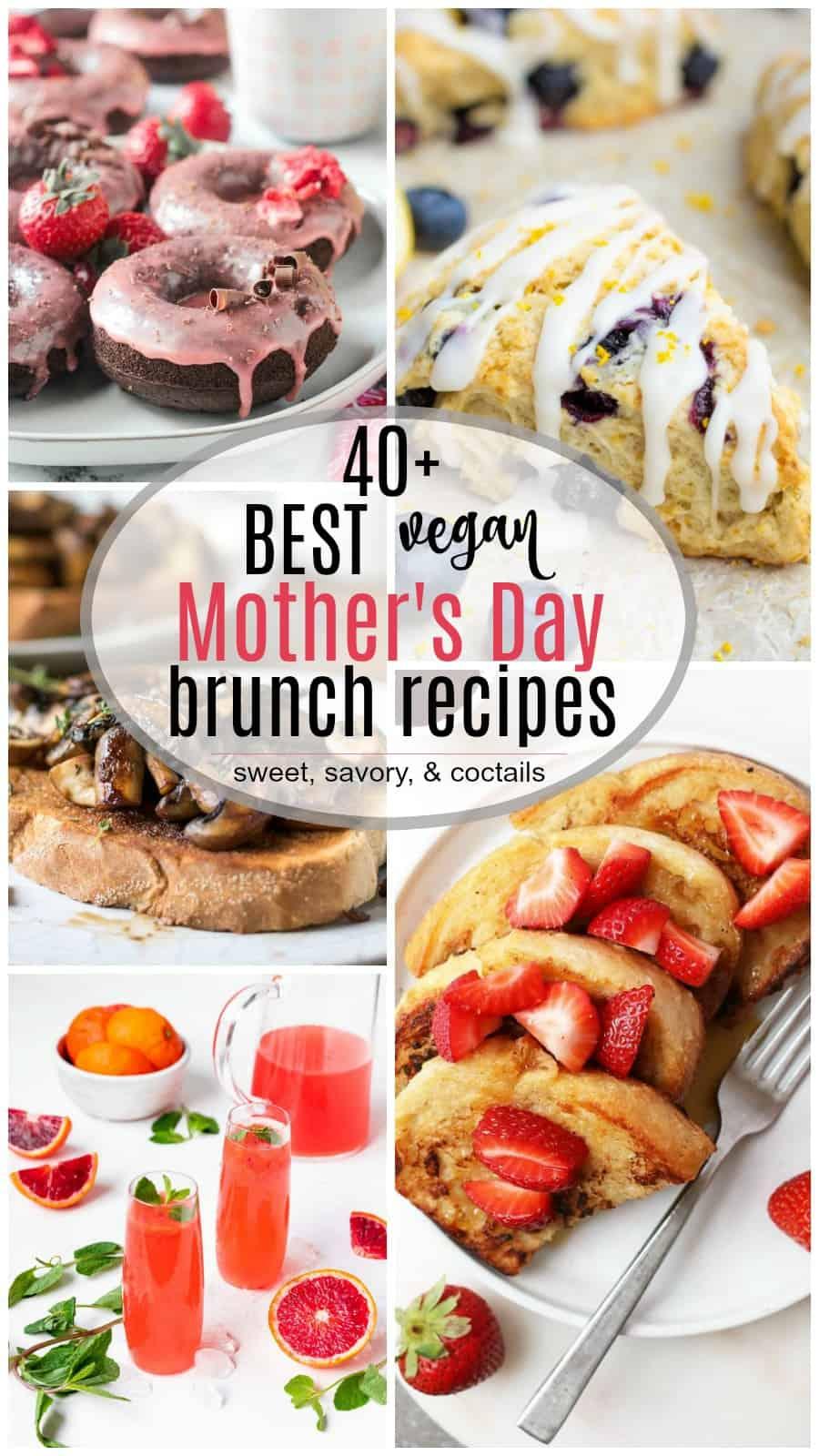 Vegan Mother's Day brunch collage.